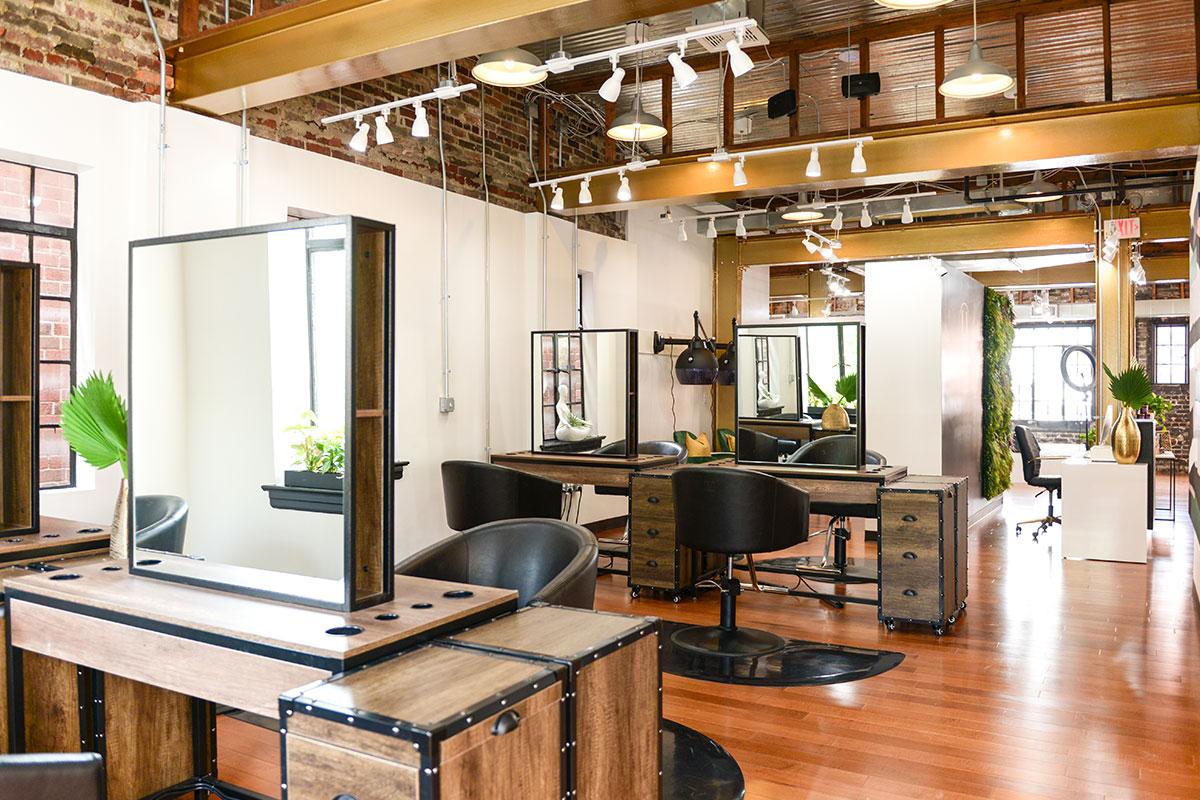 brown hair salon