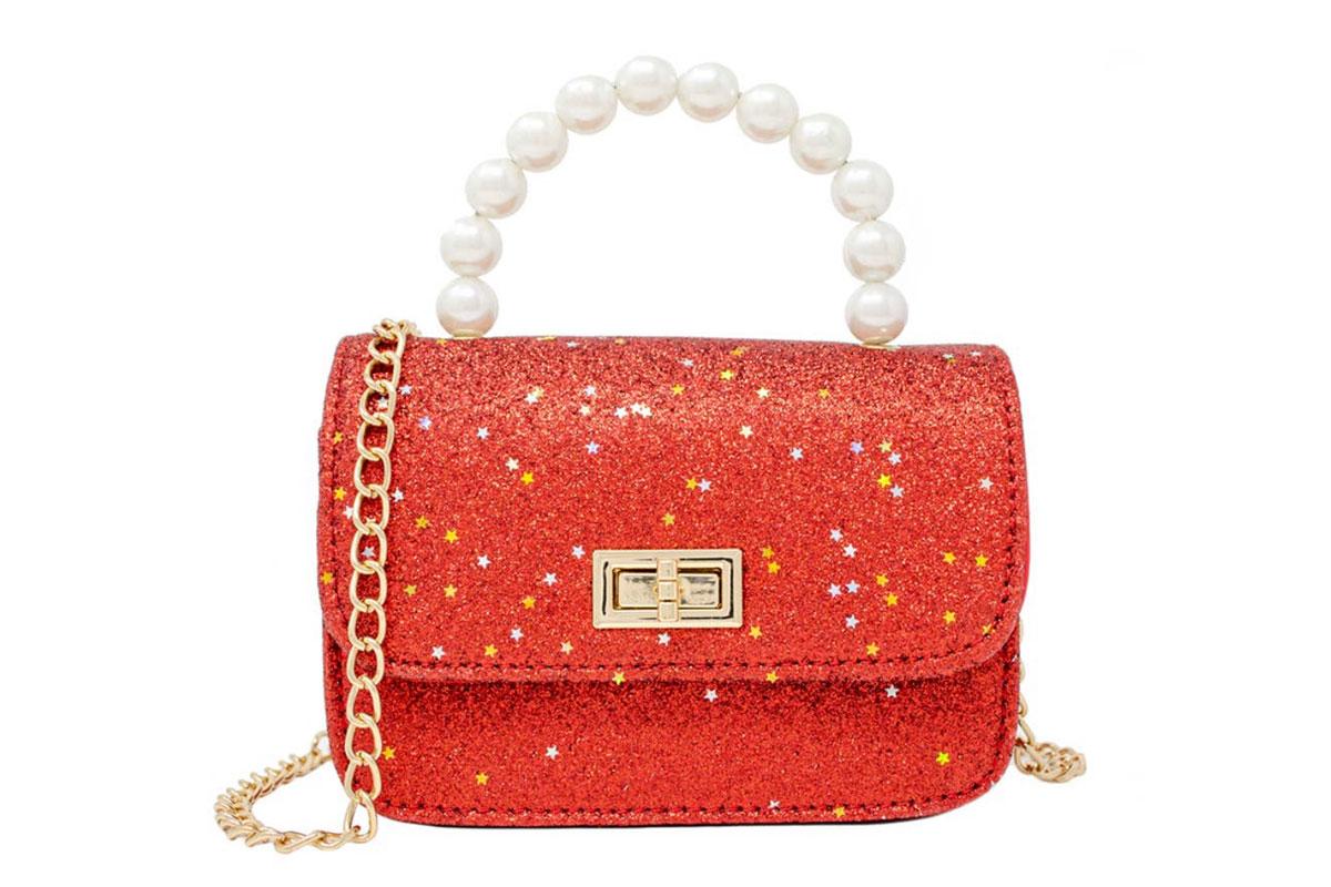Red sparkle purse