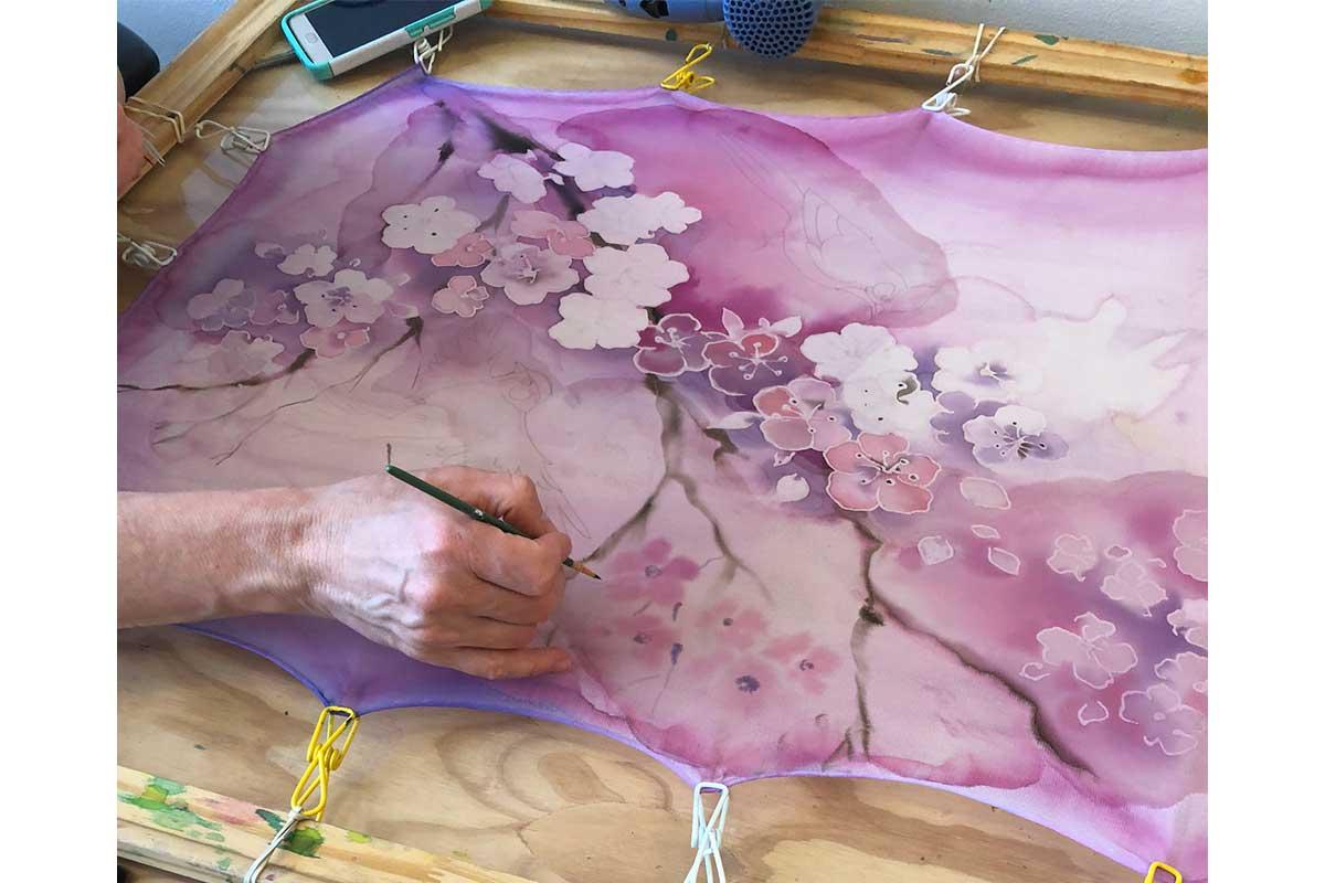 cherry blossom art piece