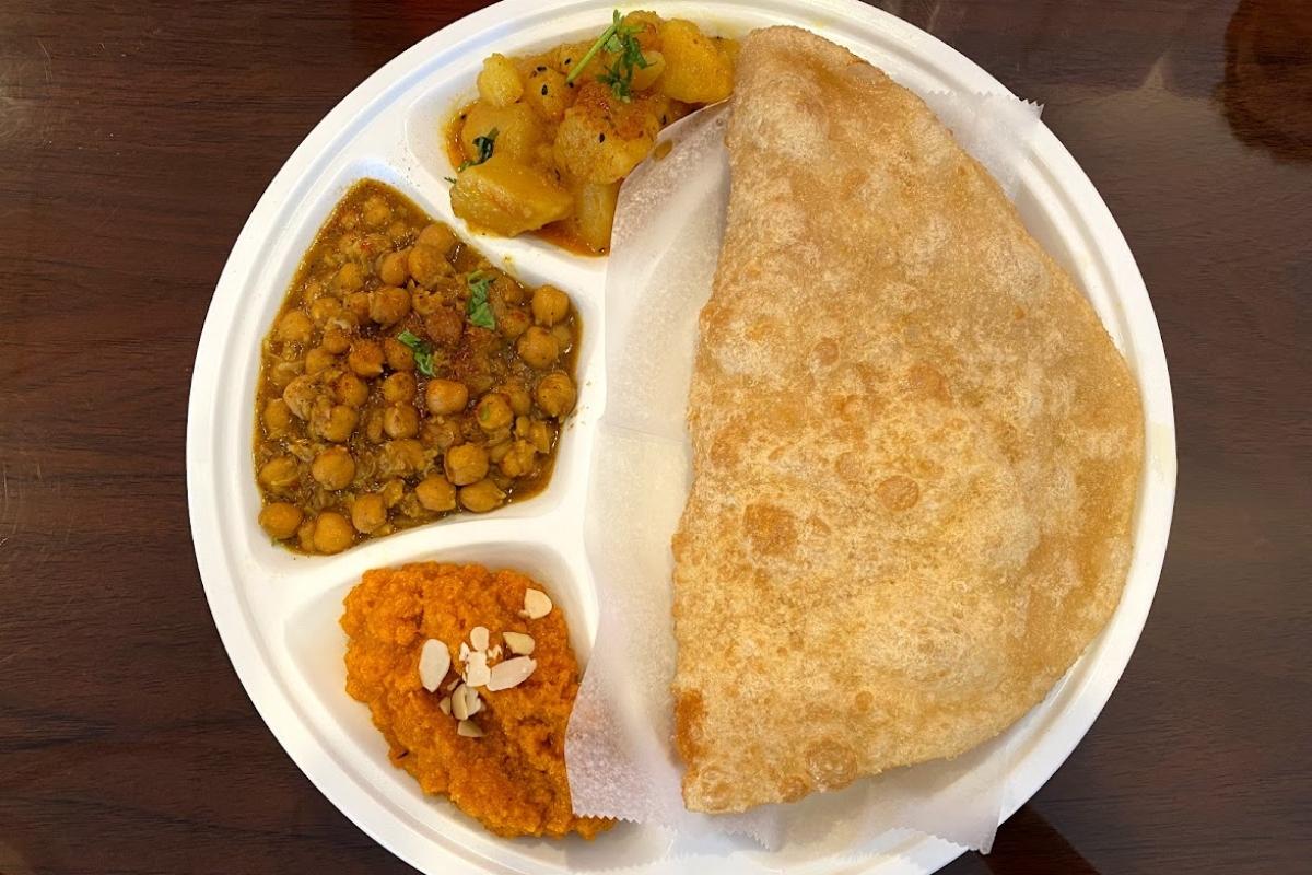 Halwah puri at Desi Breakfast Club