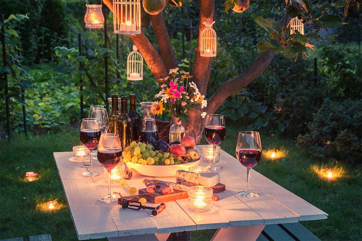 wine dinner outdoors