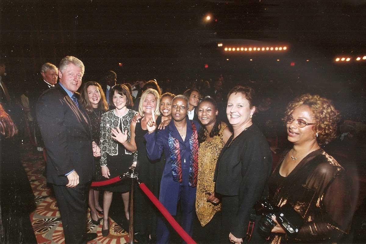 president bill clinton at premiere
